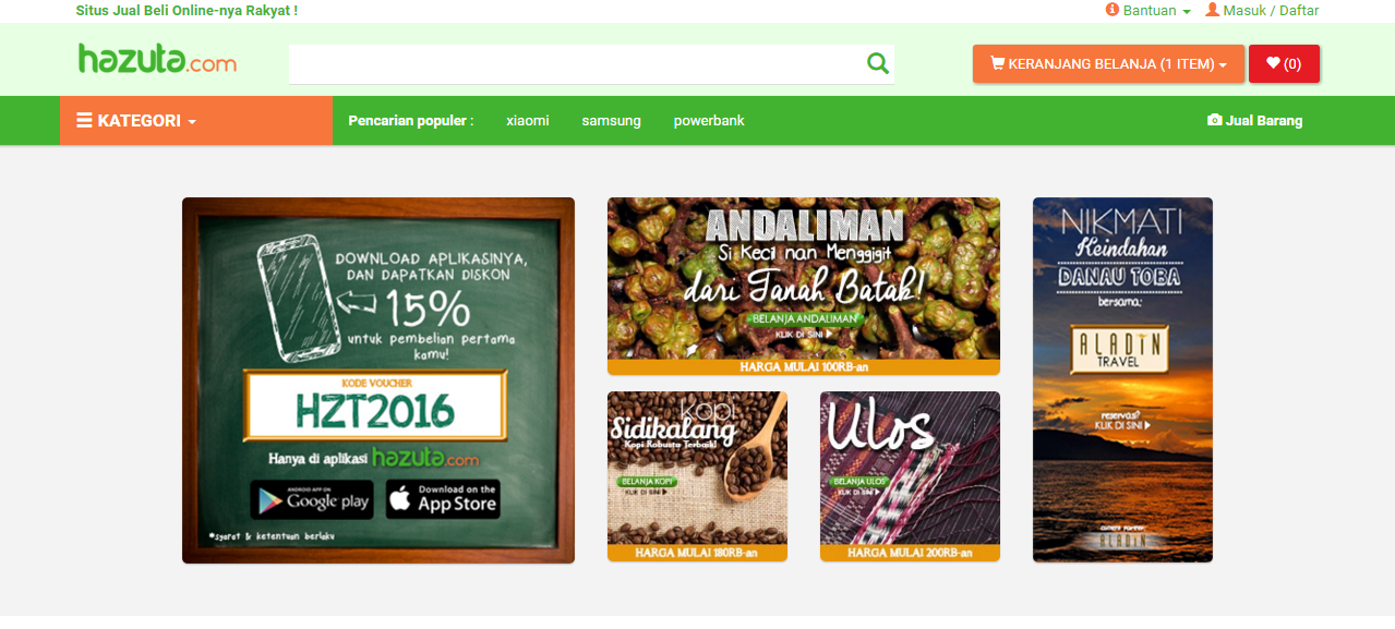 Inilah hazuta.com, beyond others e-commerce.