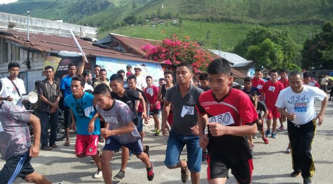 Start Lomba Lari 5K di Tongging. (Foto: JM)